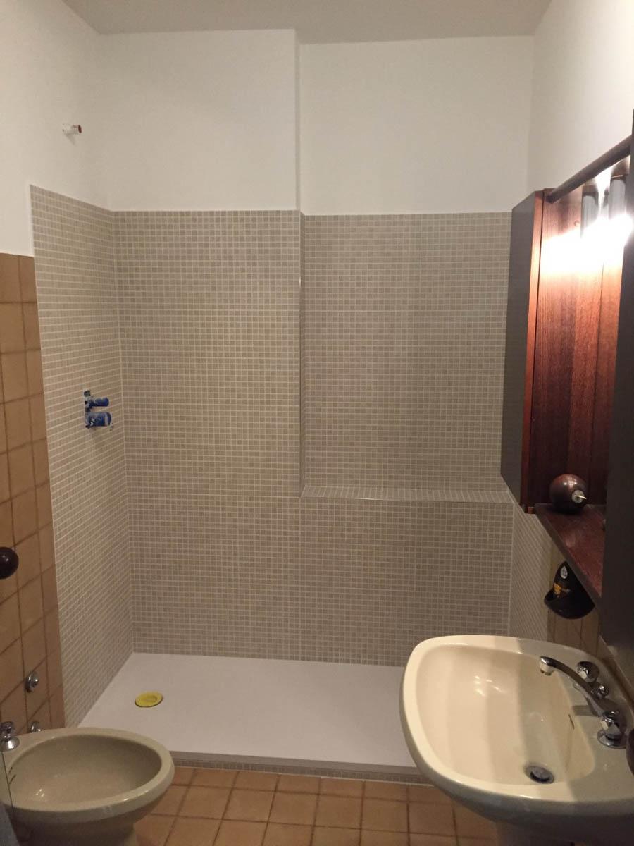Da vasca a doccia: durante